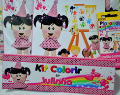 Revista kit de Colorir marrom e rosa