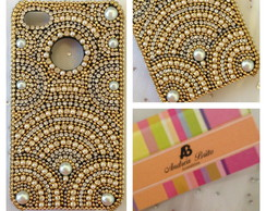 Case Iphone 4/4s c laterais em strass