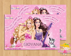 Convite Barbie Princesa e Pop Star