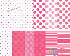 Kit Papel Digital - Rosa