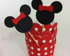 cupcake wrapper e topper minnie