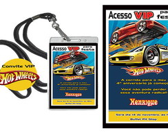 Convite VIP Credencial Hot Wheels