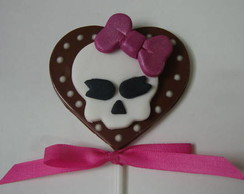 pirulito de chocolate Monster High
