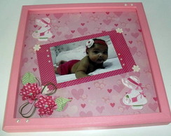 Quadro decorado com scrap
