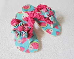 chinelo infantil customizado