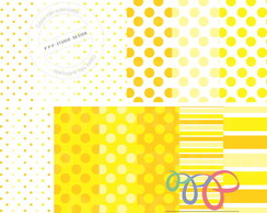Kit Papel Digital - Amarelo