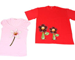 Camiseta Adulto Floral