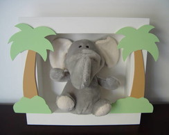 (DO 0045) Quadro decorativo elefante