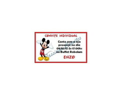 Convite Individual do Mickey