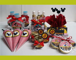 "Kit Mesa Clean ""Turma do Mickey"" 80 produtos"