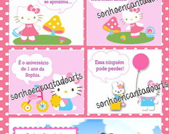 Convite Gibi - Hello Kitty