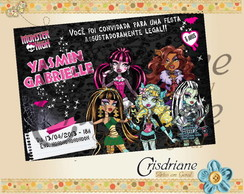 Convite Monster High turma