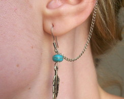 Ear Cuff Boho Feather