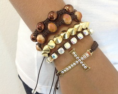 Kit shambala cafe com crucifixo e spike