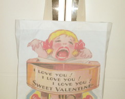 Bolsa I love You - sacola grande