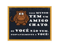 Placa MDF Retrô- Amigo Chato - 519