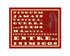 Placa MDF Retrô- Guerra dos Sexos Red