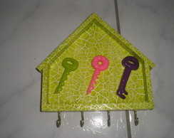 Porta chaves em mdf e biscuit