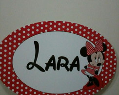 Placa pvc minnie vermelha