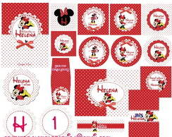 Kit digital Minnie vermelha