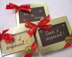 Tablete de chocolate personalizado