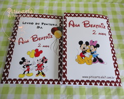Kit Livrinhos pintura Mickey e Minnie