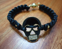 Bracelete Caveira Fashion Black