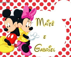 Envelope Personalizado Minnie e Mickey