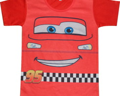 Camiseta infantil Carros Mc Queen
