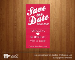 10 Ímãs Save the Date - Modelo 006