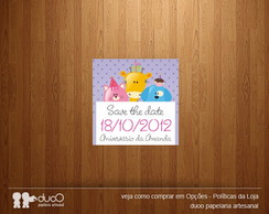 10 Ímãs Save the Date - Modelo 005