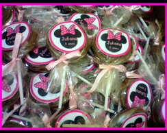 Pirulitos de chocolate belga - Minnie