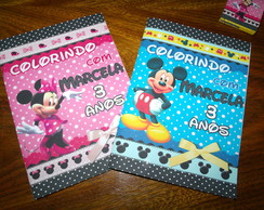 Revista Colorir Minnie ou Mickey 14x10