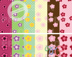 Kit Papel Digital - Flores