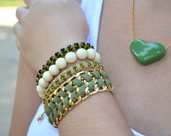 MIX DE PULSEIRAS MILITARY GREEN