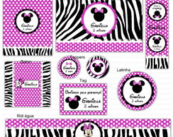 Kit digital Minnie - Zebra