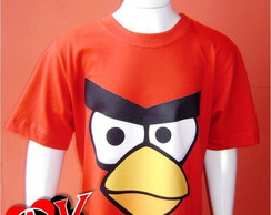 Camiseta Infantil Angry Birds - Red