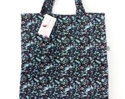 Ecobag flower azul