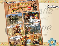 Convite Gibi Indiana Jones Lego