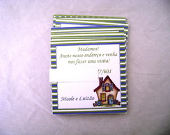 Moving Card: Listra azul e verde