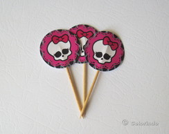 Toppers Skullette Rendado Pink