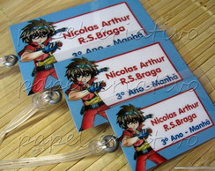 Kit 3 Bagtags - bakugan