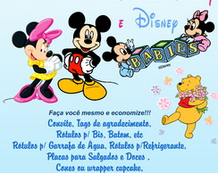 Kit Festa Minnie, Mickey ou Ursinho pooh