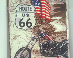 Placa Retro Route 66