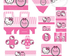 Kit festa personaliza - Hello Kitty