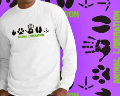 CAMISETA LONGA ANIMAL LIBERATION - 8648
