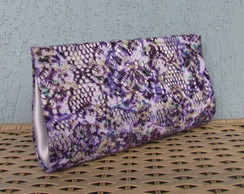 Clutch Renda Roxa