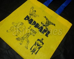 Mini Ecobag Infantil - Super Heróis