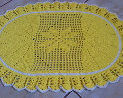 Tapete Oval Amarelo
