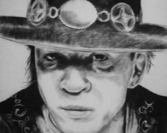 Stevie Ray Vaughan Carvão sobre tela